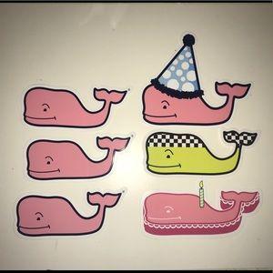 6 Vineyard Vines Whale Stickers